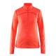 Craft Pin Midlayer Dames oranje/rood